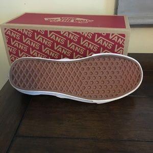 Vans Shoes - Vans slip ons. Teal, grey, and white
